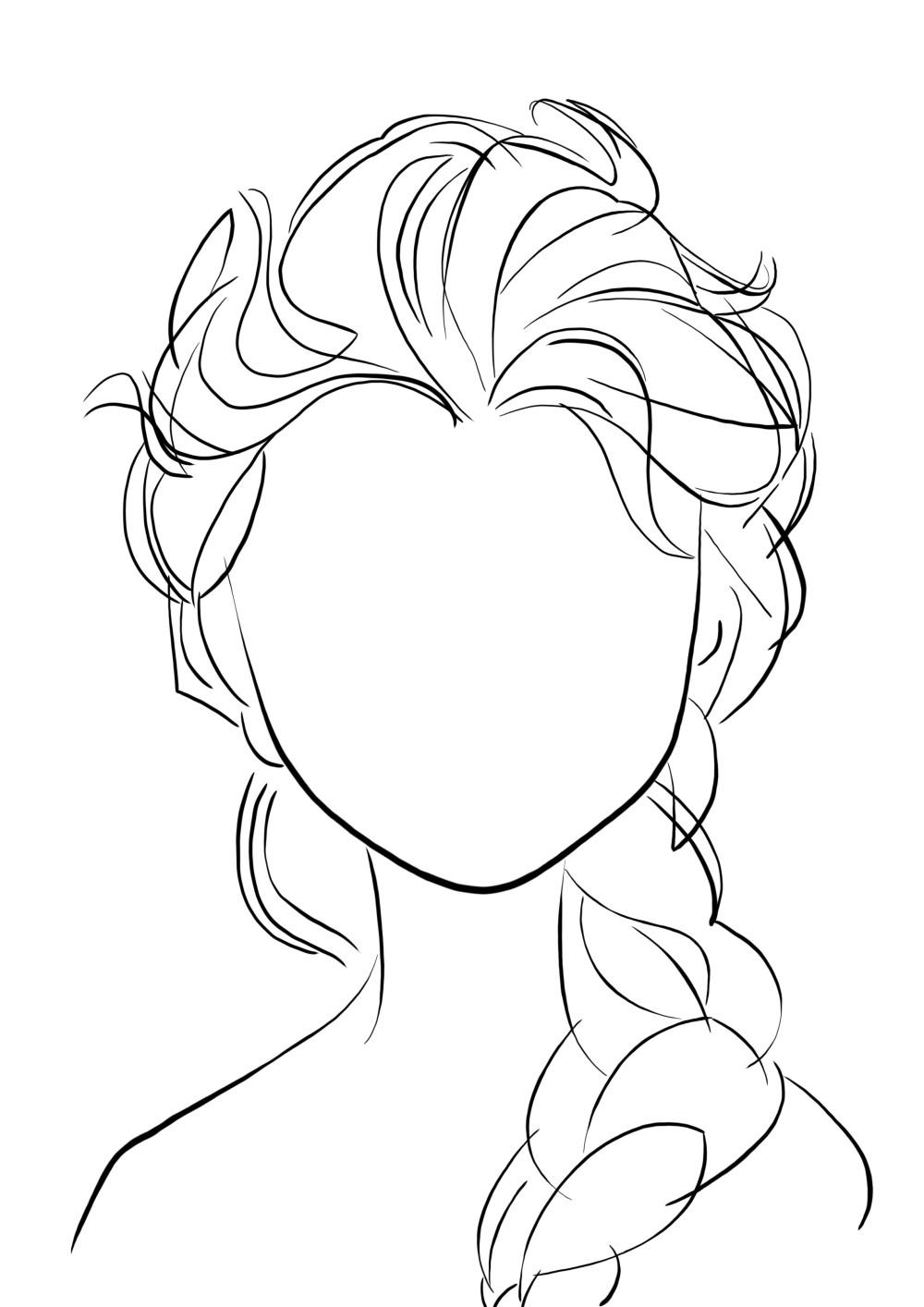 Elsa - visage à compléter